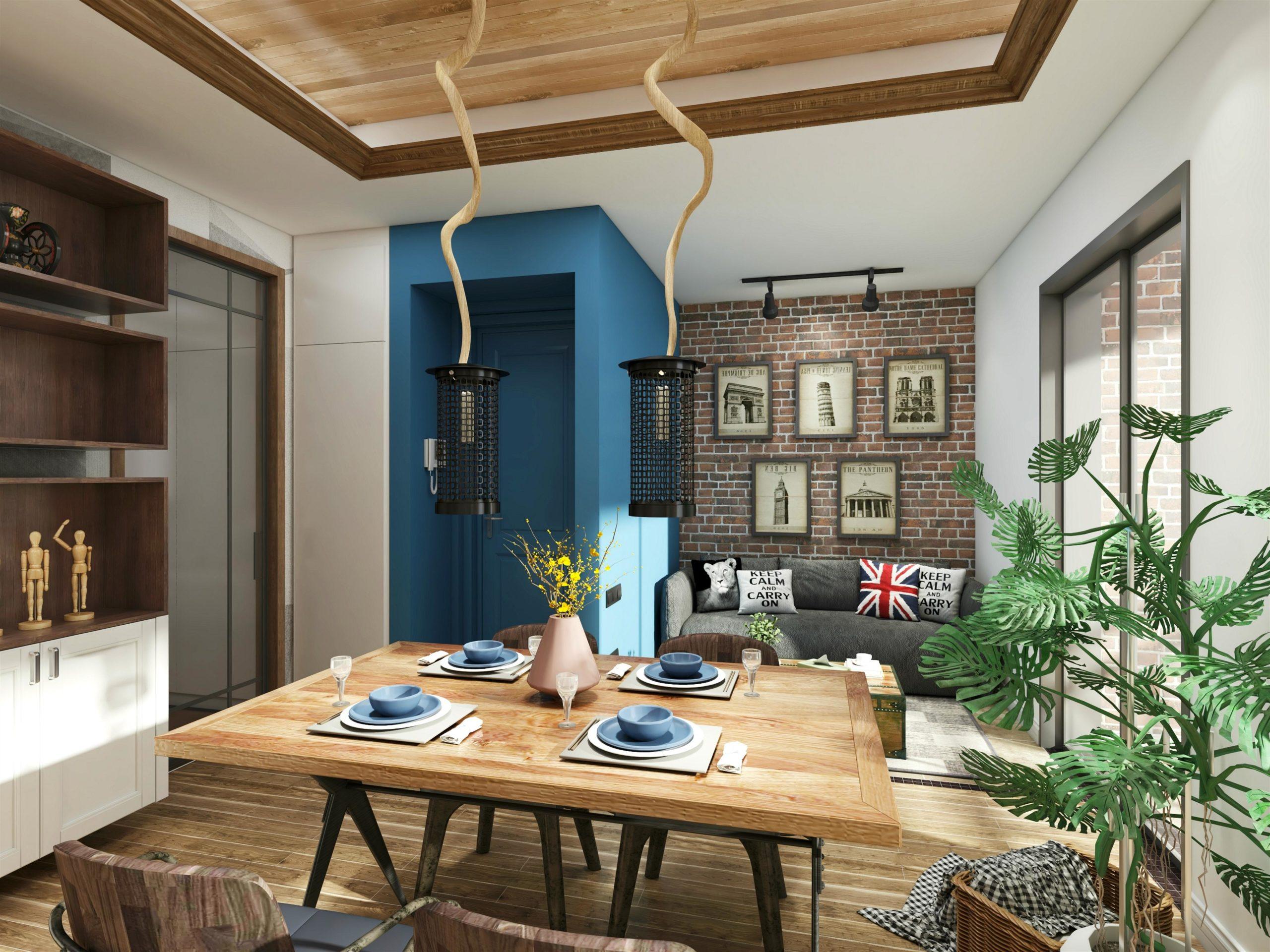Proyecto decoración salón creado con AiHouse