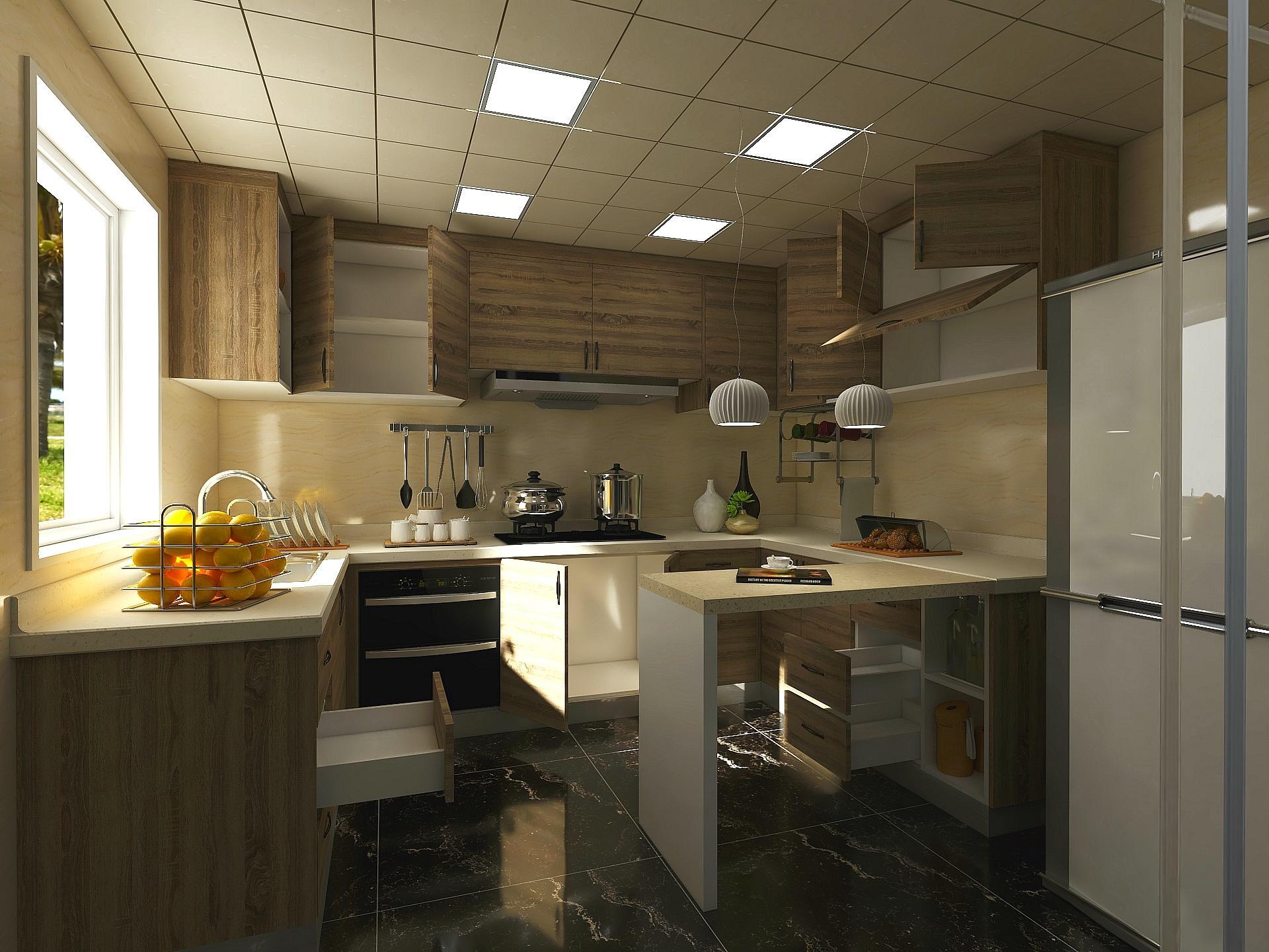 Programa de diseño de cocinas 3D Aihouse con puertas abiertas