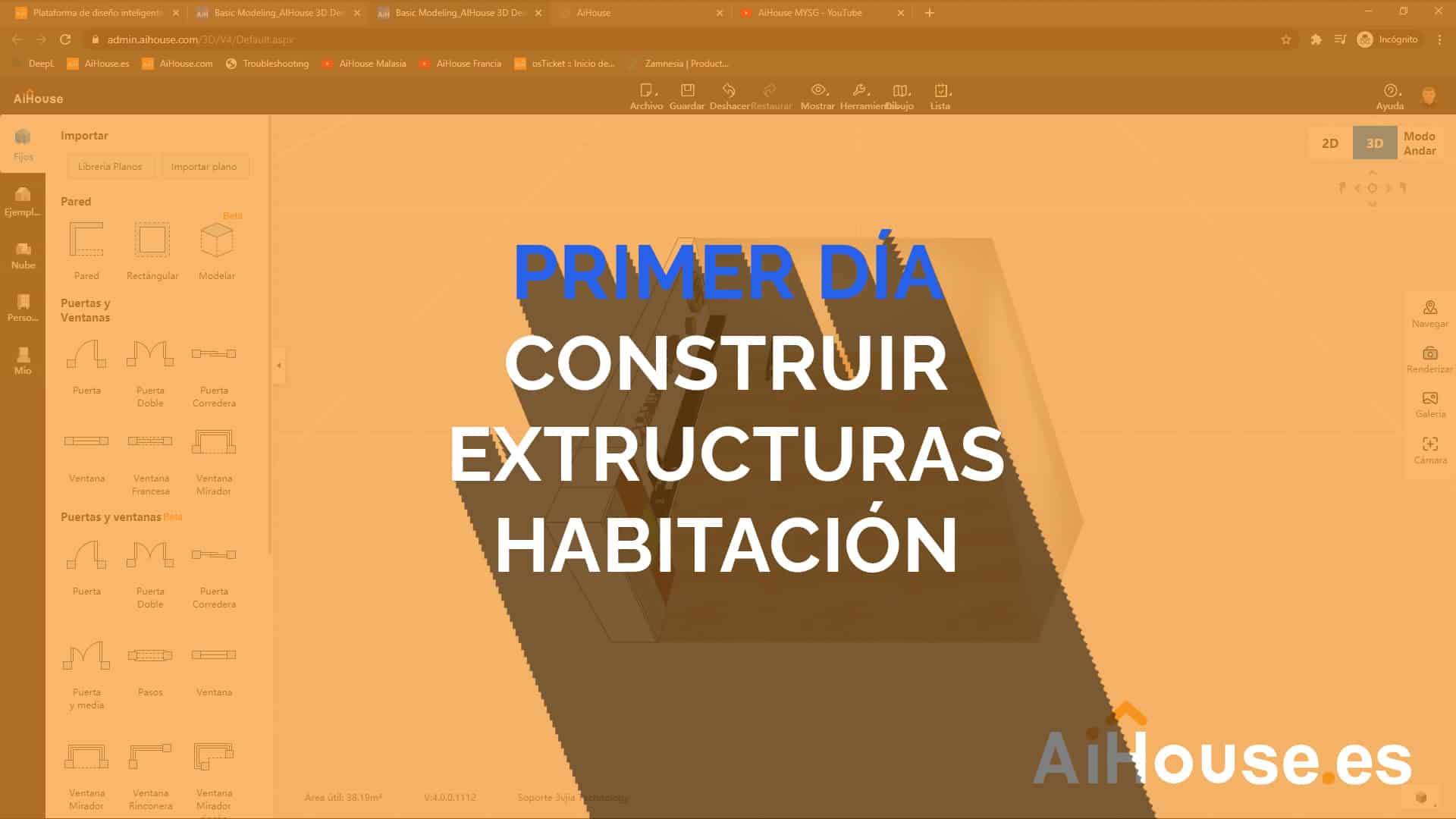 Formación AiHouse en Español - Día 1 - Creación de estructuras de habitación o casa completas.