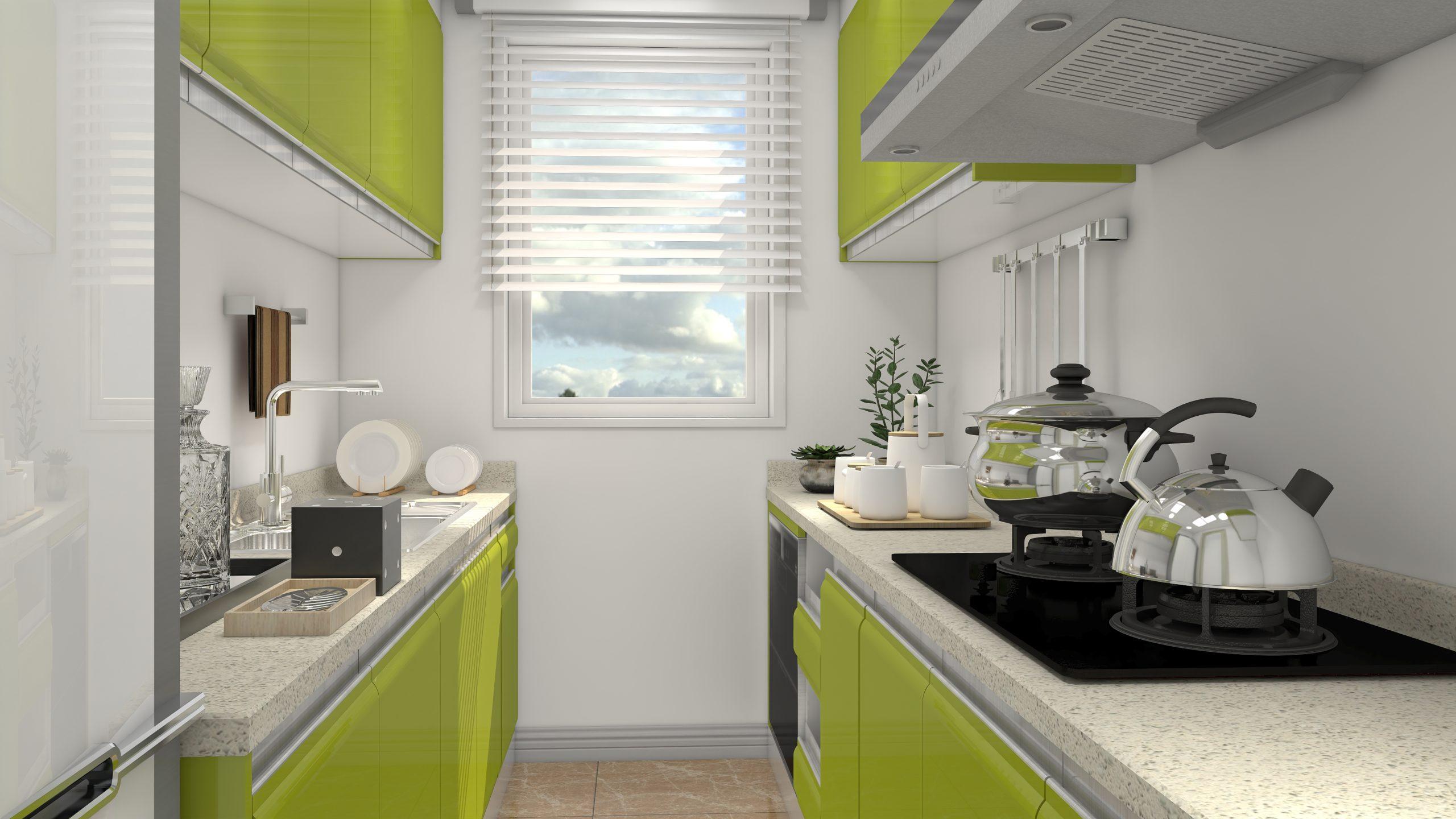 Cocina Verde con AiHouse