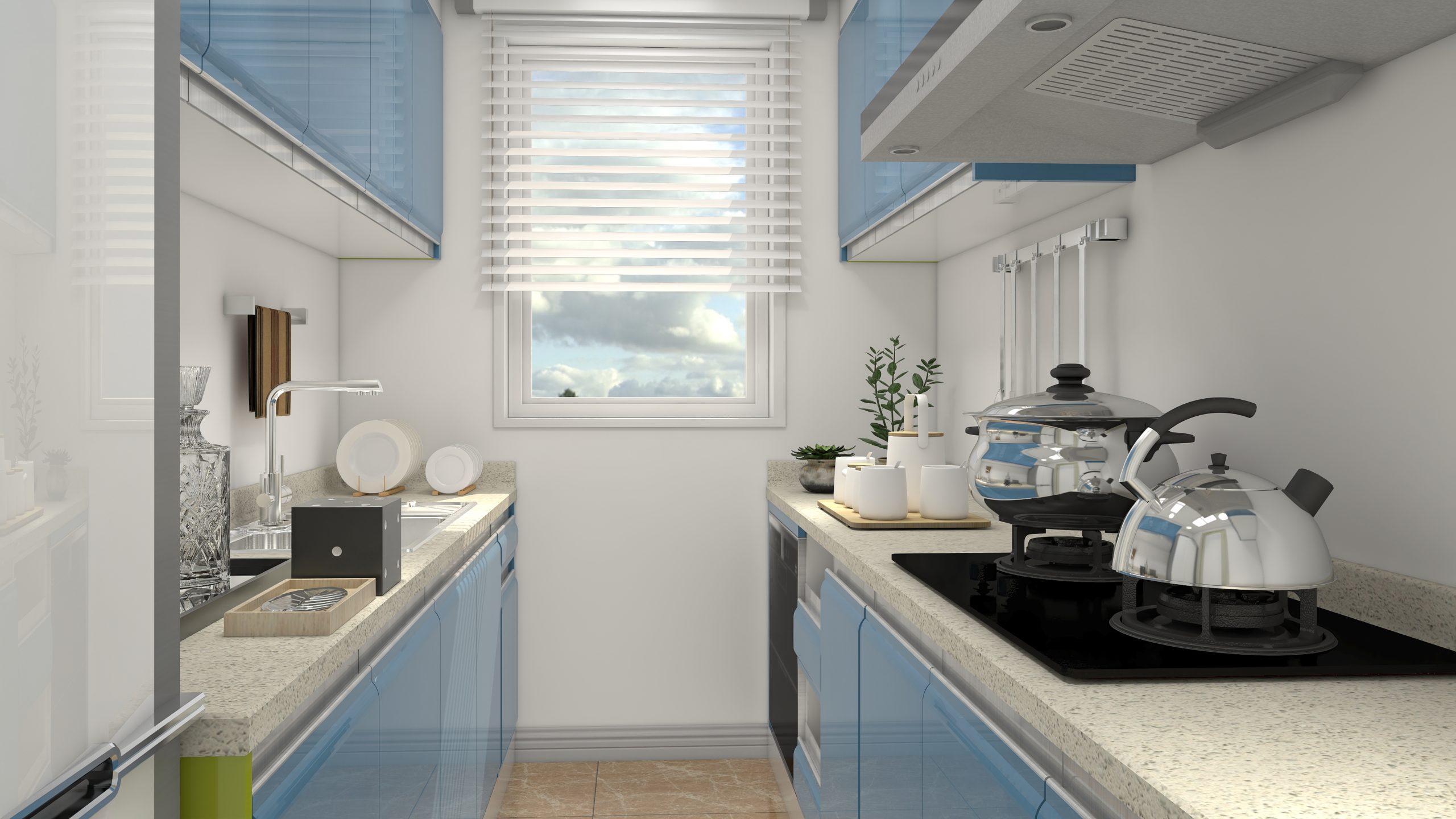 Cocina Azul con AiHouse