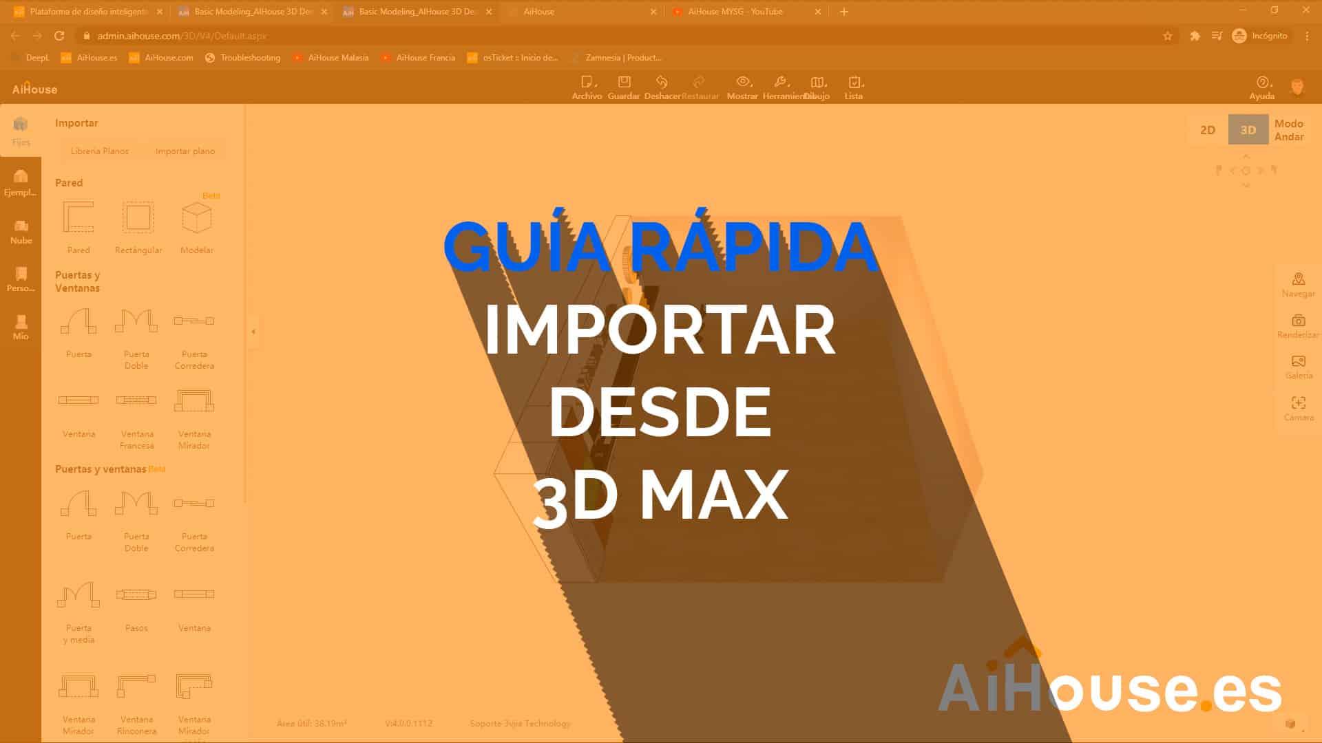 Guía Rápida - Importar desde 3DMax