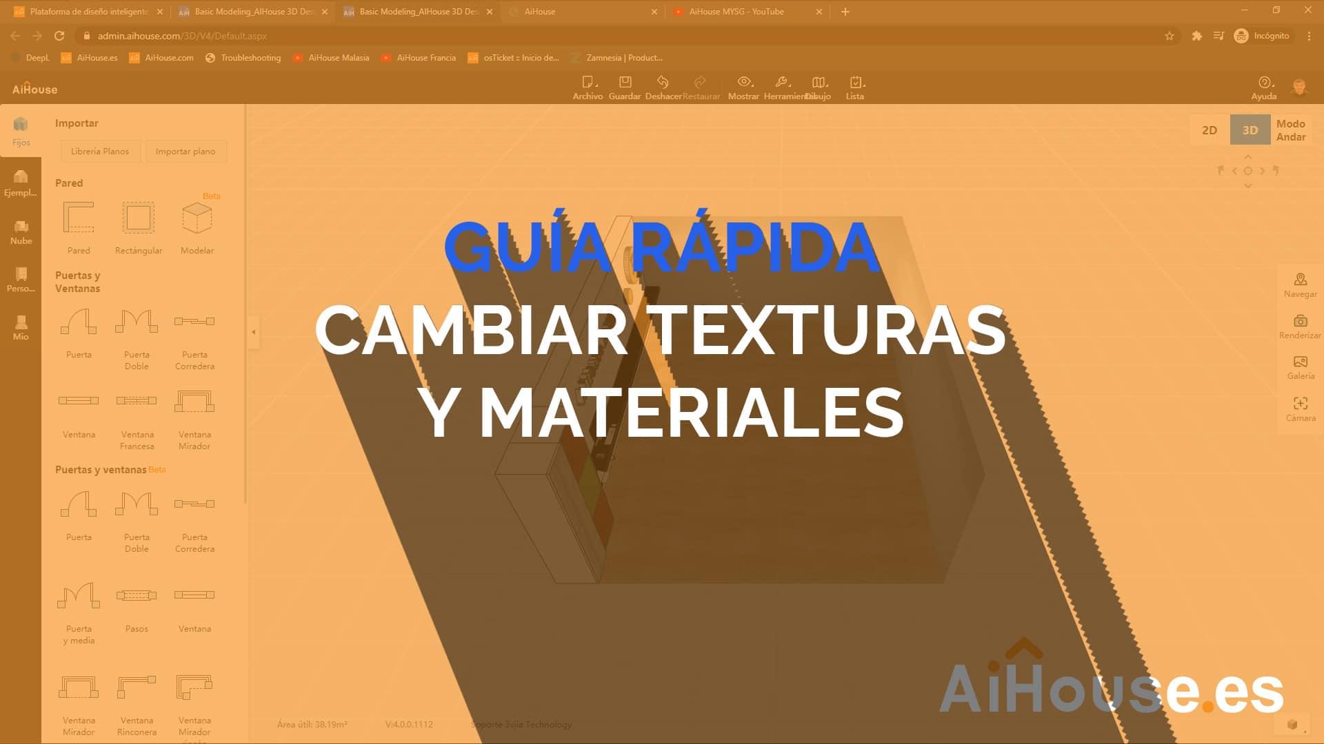 Cambiar Texturas y Materiales en AiHouse