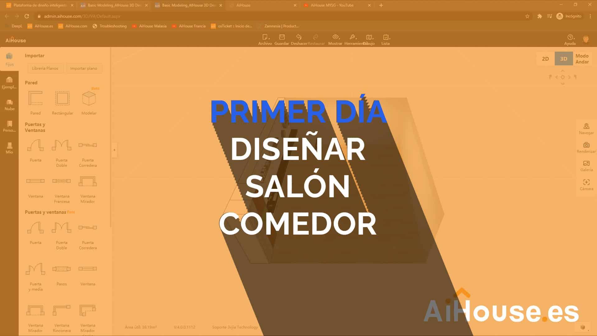 Formación AiHouse en Español - Día 1 - Creación de un comedor