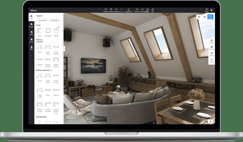 Software de diseño de interiores AiHouse