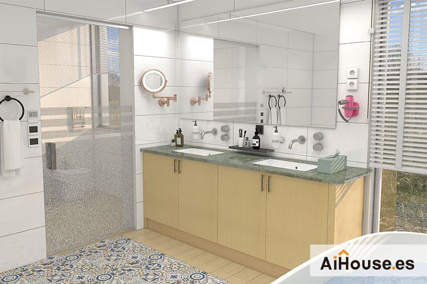 Como crear un baño con AiHouse