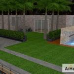 Como hacer un jardín exterior con AiHouse