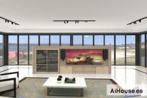Como hacer un salón con vistas al mar con AiHouse