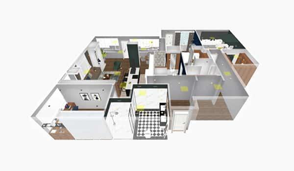 Disposición inteligente con múltiples estilos para toda la casa